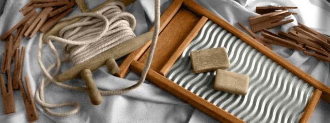 Textilreinigung und chemische Reinigung Werkzeuge.